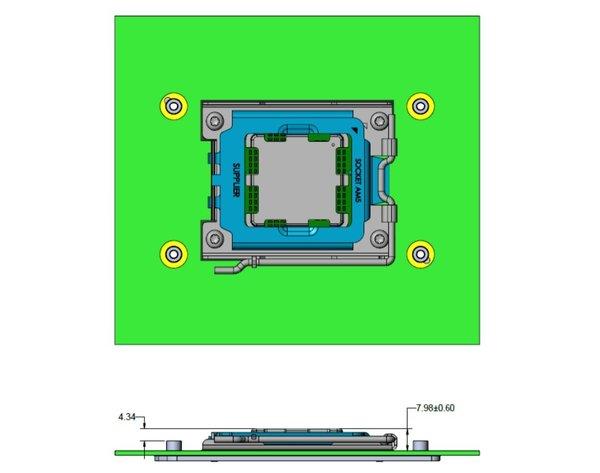 AM5处理器插槽细节:LGA接口+DDR5内存