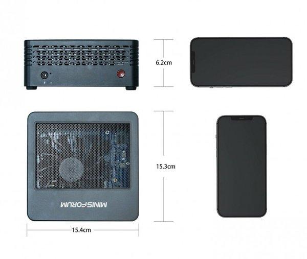 Minisforum推锐龙R7-5700G平台的EliteMini X500迷你电脑