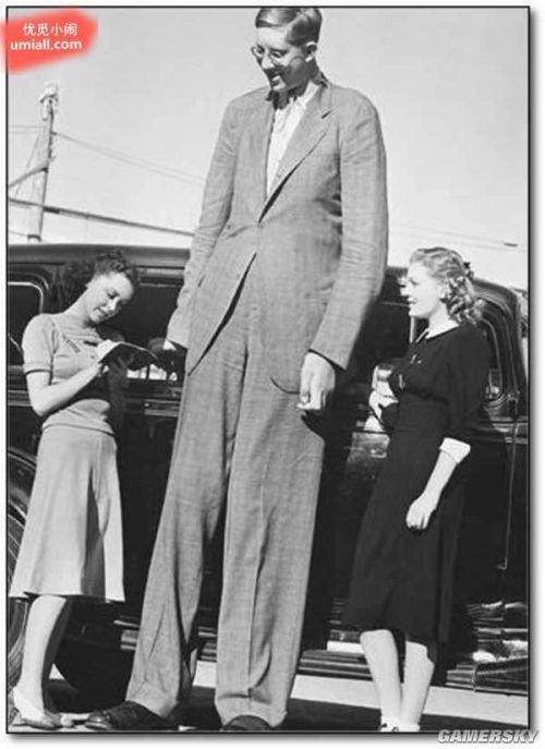 史上身高最高272公分的巨人症男子罗伯特·瓦德罗 (robert wadlow)