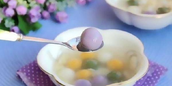 极客美食:软糯可口―料理机版网红五色汤圆