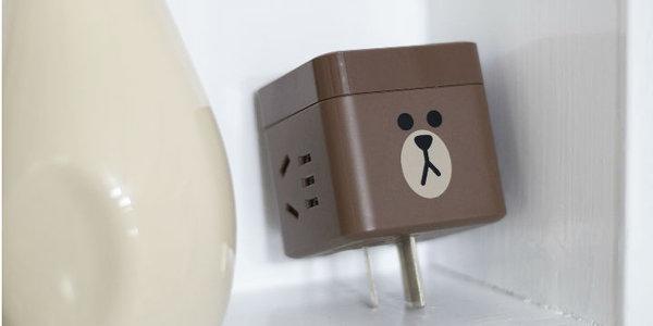公牛LINE FRIENDS小魔方USB插座:又萌又可爱的实用插座!