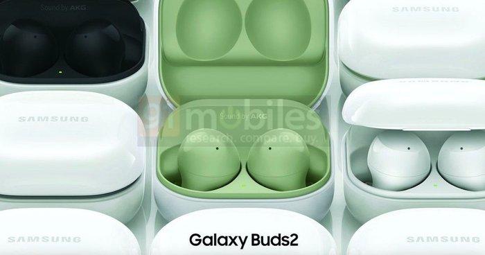 三星Galaxy Buds 2官方渲染图曝光 或于今日推出