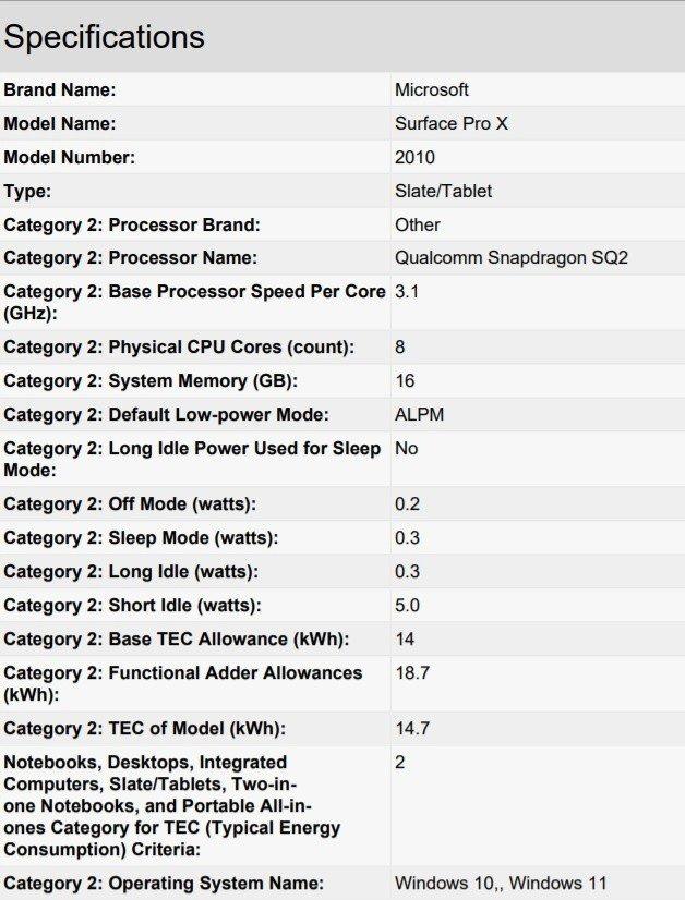 微软新款Surface Pro X曝光,采用高通SQ系列处理器