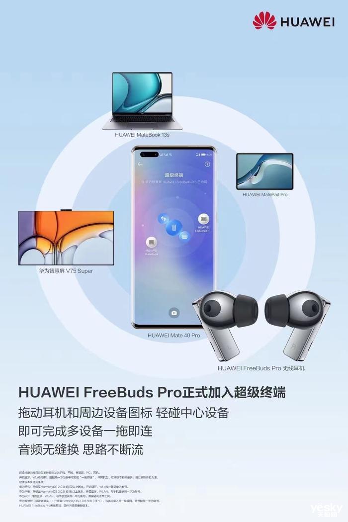 华为FreeBuds Pro加入超级终端,产品直降300元