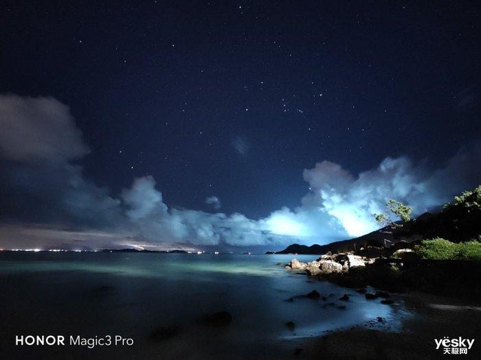 荣耀Magic3 Pro星轨拍摄挑战:多主摄融合计算摄影还原纯净星空