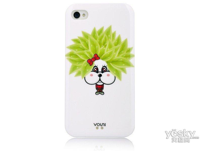 沃尤尼iPhone 炫彩背壳(绿草兔)保护背壳