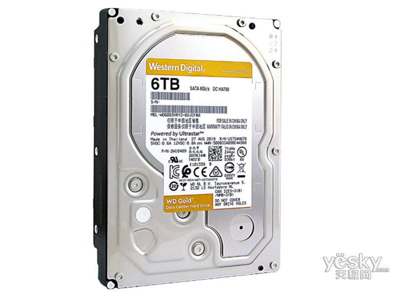 西部数据6TB 7200转 256MB 金盘(WD6003VRYZ)