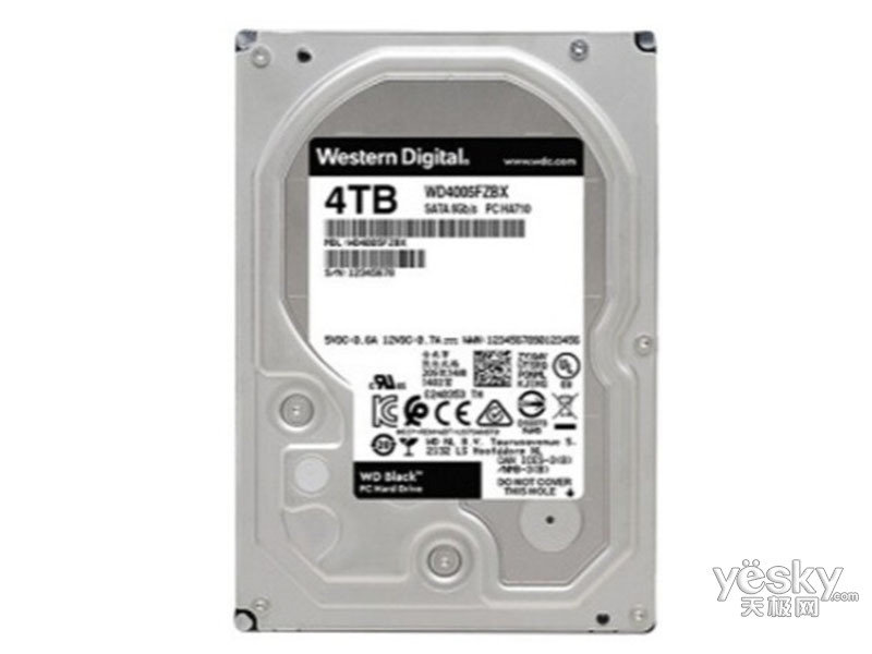 西部数据黑盘 4TB SATA6Gb/s 256M(WD4005FZBX)
